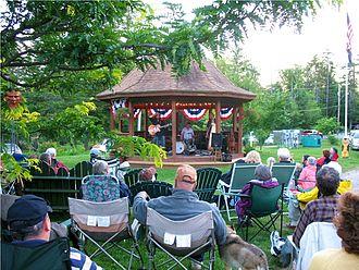 Wanakena, New York - Summer Concert at the gazebo in Wanakena
