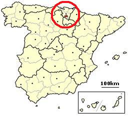Condado de Treviño, Spain location