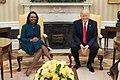 Condoleezza Rice and Donald Trump in the Oval Office, March 2017.jpg