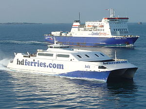 Condor Ferries and HD Ferries at St. Peter Port Guernsey.jpg