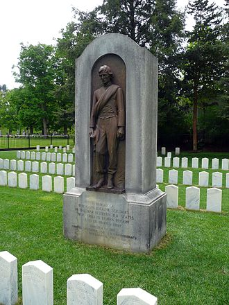 Elmira Prison - Confederate monument at Woodlawn National Cemetery in Elmira