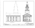 Congregational Church, Atwater, Portage County, OH HABS OHIO,67-ATWA,1- (sheet 2 of 5).png
