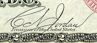 Conrad N. Jordan - Image: Conrad N. Jordan (Engraved Signature)