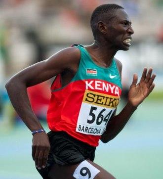 Conseslus Kipruto - Kipruto in the steeplechase at the 2012 World Junior Championships