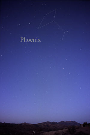 Phoenix (constellation) - The constellation Phoenix as it can be seen by the naked eye.