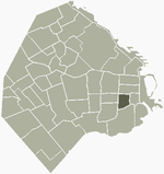 Location of Constitución within Buenos Aires