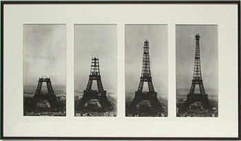 Construction of the Eiffel Tower between 1887 and 1889