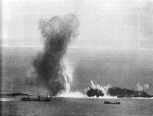 Kanalkampf - A British convoy under air attack, 14 July 1940