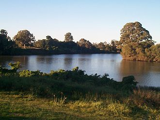Wilsons River (New South Wales) - Junction of the Wilson and Richmond rivers at Coraki, 2007