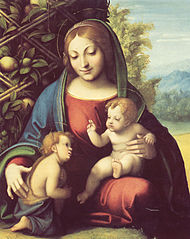 Vierge à l'Enfant et saint Jean