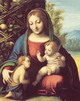 Madonna and Child with the Infant John the Baptist (Correggio, Chicago) - Image: Correggio, madonna di chicago