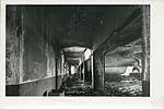 Corridor of third story showing portal construction and buckling of panel wall of Honkawa Grammar School, Hiroshima.jpg