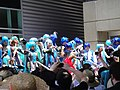 Cosplayers of Hatsune Miku and Kaito at Anime Expo 20110702.jpg