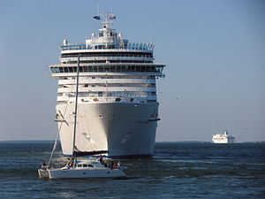 Costa Luminosa Bow and Boat Tallinn 13 August 2012.JPG