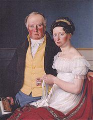 Dobbeltportræt af greve Preben Bille-Brahe og hans anden hustru Johanne Caroline, f. Falbe