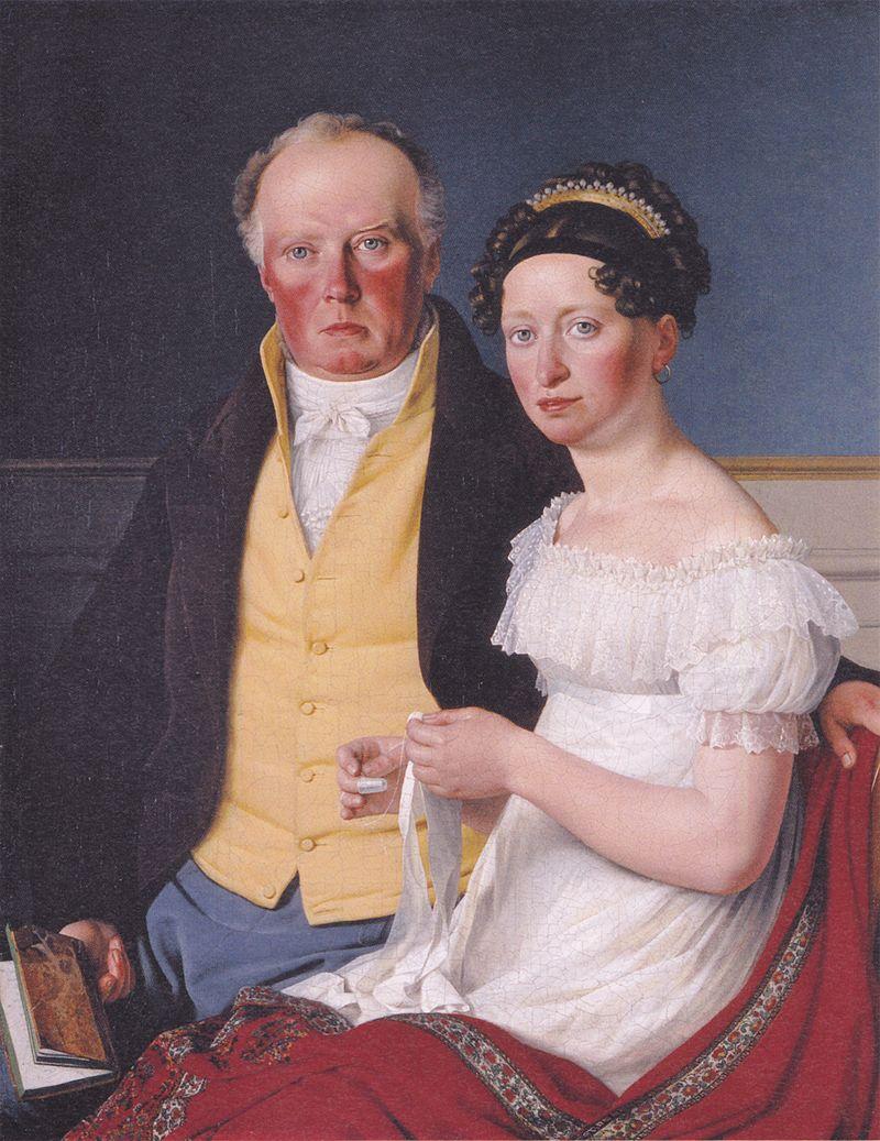 Count Preben Bille-Brahe and his second wife Johanne Caroline nee Falbe 1817 by CW Eckersberg.jpg