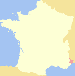 County of Nice - The county inside modern France