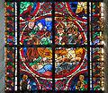 Coutances Cathédrale Notre-Dame Vitrail Baie 217 Lancette gauche 2e registre - traversée de la Manche par Thomas Becket 2014 08 25.jpg