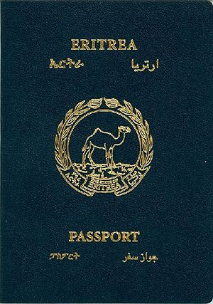 Eritrean passport - The front cover of an Eritrean passport.