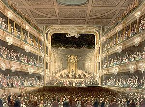 Solomon (Handel) - A picture of the theatre at Covent Garden where Solomon was first performed