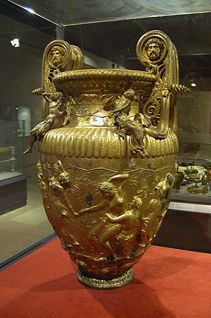 Urn - The Derveni Krater, one of very few large Ancient Greek bronze vessels to survive