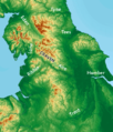 Craven Pass through Pennine Mountains UK topographic map.png
