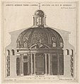 Cross-section of the church of Sant'Andrea al Quirinale, Rome, showing lantern, cupola, and altar MET DP832568.jpg