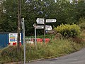 Crossroads at Ironmills with roadsign - geograph.org.uk - 2544570.jpg