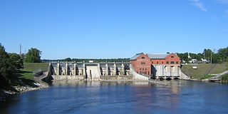 Croton Dam (Michigan) place in Michigan listed on National Register of Historic Places