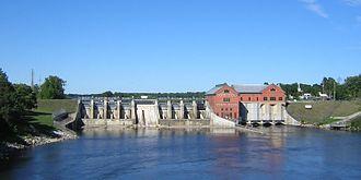 Croton Dam (Michigan) - Croton Dam and Hydroelectric Plant
