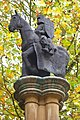 Crusader Statue atop Pillar to the south of Temple Church.jpg