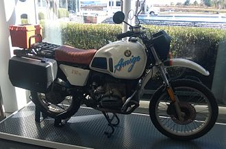 """Darién Gap - Ed Culberson's """"Amigo"""" (a BMW R80G/S motorcycle) was the first vehicle to fully navigate the Pan-American Highway by land."""