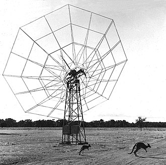 """Paul Wild (Australian scientist) - To """"actually see what solar phenomena looked like on the Sun"""", Paul Wild built 96 of these antennas in a 3 kilometre ring at Culgoora, New South Wales – the world's first radio-heliograph."""