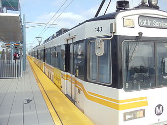 Culver City station - Expo Line train at Culver City Station.
