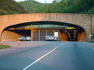 U.S. Route 25E - The Kentucky side of the Cumberland Gap Tunnel.
