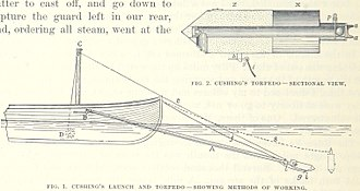 William B. Cushing - A plan of Cushing's launch and torpedo