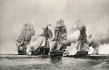 Cybèle and Prudente vs English ship and frigate 22 dec 1794-Durand Brager img 3104.jpg