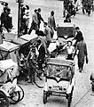 Cycle rickshaws in Japan circa 1949.jpg