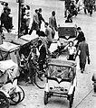 Cycle rickshaws in Japan circa 1949.jpg