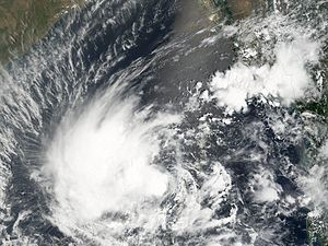 Cyclone Mala - Cyclone Mala on April 26 struggling to develop under strong wind shear