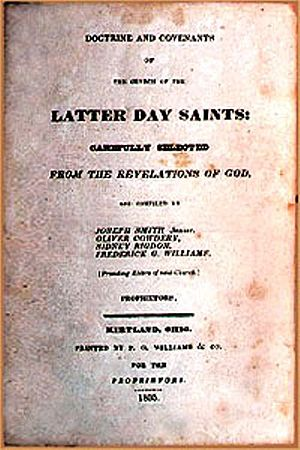 Doctrine and Covenants - Title page of the original 1835 edition.