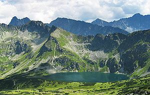 Tatra National Park, Poland - Czarny Staw in the Valley of Five Polish Lakes