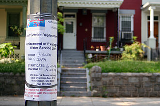Lead contamination in Washington, D.C. drinking water - WASA Lead Service Replacement Notice