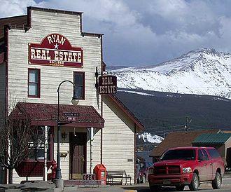 Fraser, Colorado - Downtown Fraser, Colorado, April 2005