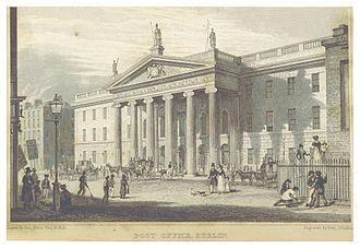 General Post Office, Dublin - Image: DUBLIN(1837) p 095 POST OFFICE