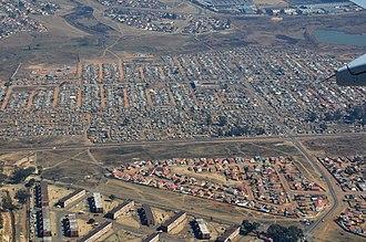 Elsburg - Aerial view overhead Elsburg