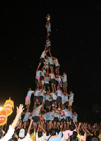 English: Dahi Handi Jay Bharat Seva Sangh in 2...