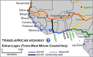 Trans–West African Coastal Highway road