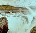 Dammen på Kloumann-sjøen (The dam at Lake Klouman), 1908.jpg