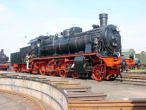 Saxon XII H2 - Image: Dampflokomotive 38 205 Chemnitz Hilbersdorf